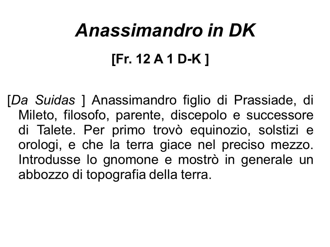 Anassimandro in DK [Fr. 12 A 1 D-K ]